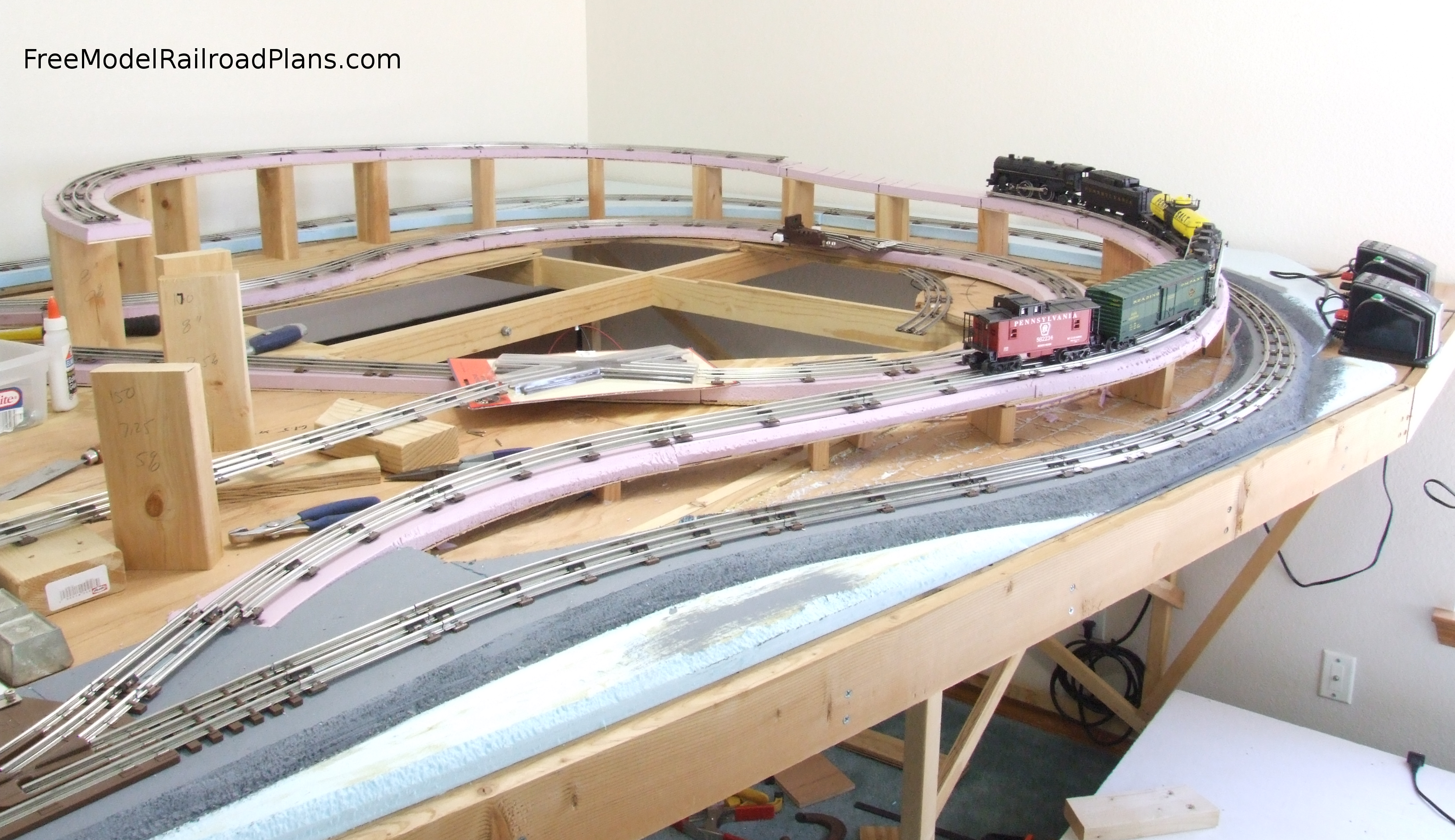 Model Railroad Roadbed For Elevated Track Free Model